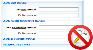 Different passwords o your profile and Control Panel